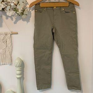 Michael Kors Izzy Skinny green jeans 4